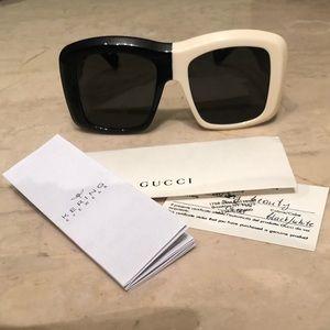 New GUCCI oversized square frame sunglasses